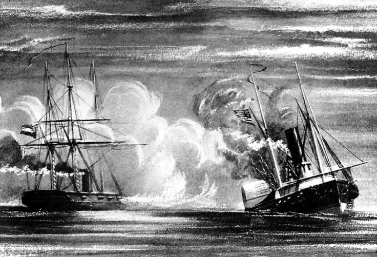 19th-century-print-depicting-the-sinking-of-Hatteras-by-CSS-Alabama-off-Galveston-Texas-on-11-January-1863.